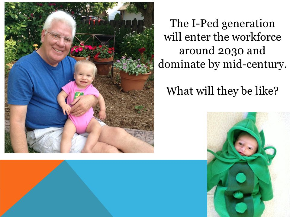 The I-Ped generation will enter the workforce around 2030 and dominate by mid-century. What will they be like?