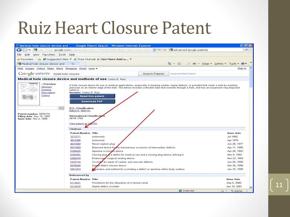 Ruiz Heart Closure Patent 11