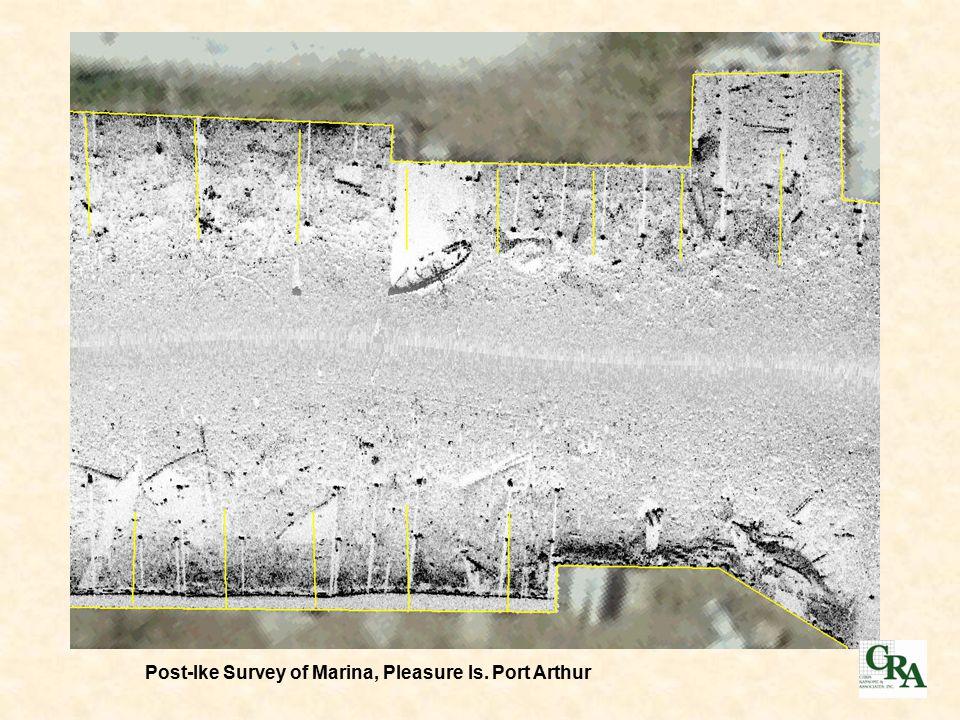 Post-Ike Survey of Marina, Pleasure Is. Port Arthur