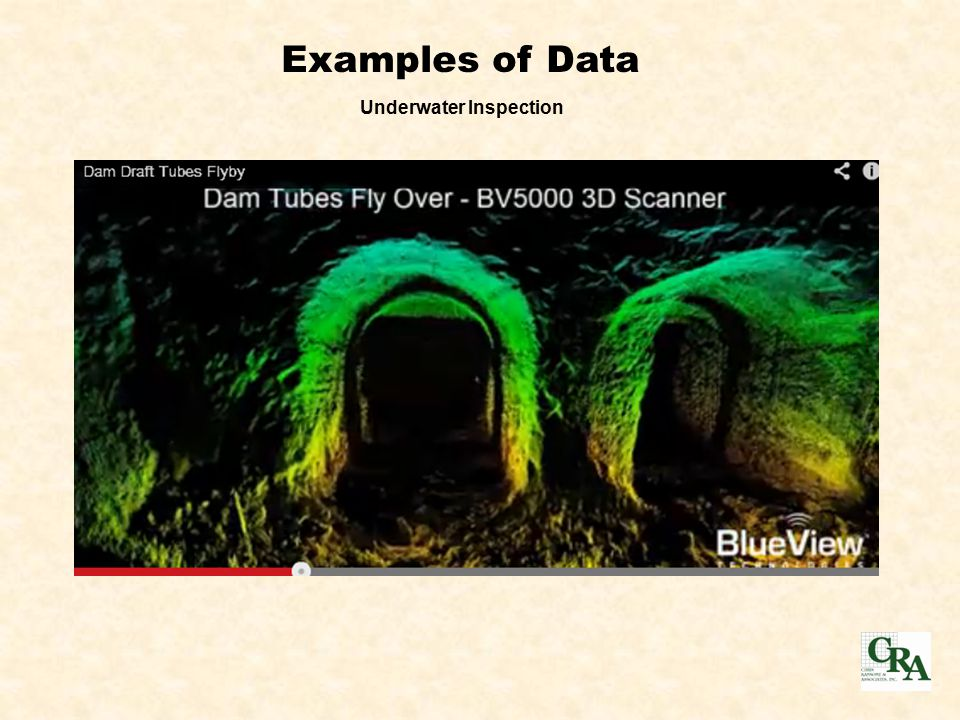 Examples of Data Underwater Inspection