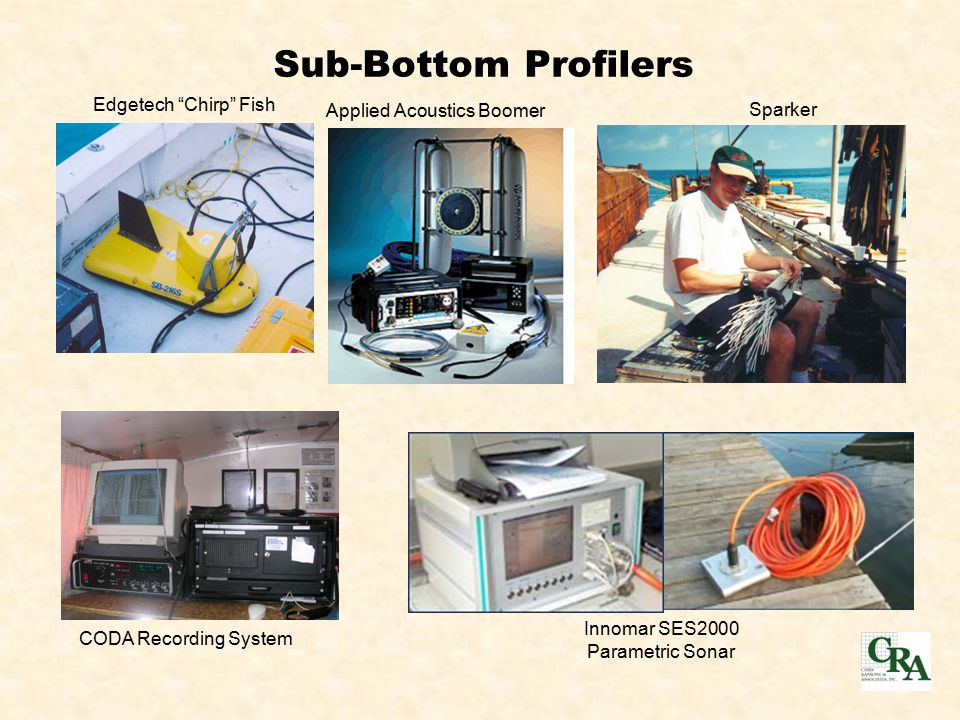 Sub-Bottom Profilers CODA Recording System Edgetech Chirp Fish Sparker Applied Acoustics Boomer Innomar SES2000 Parametric Sonar