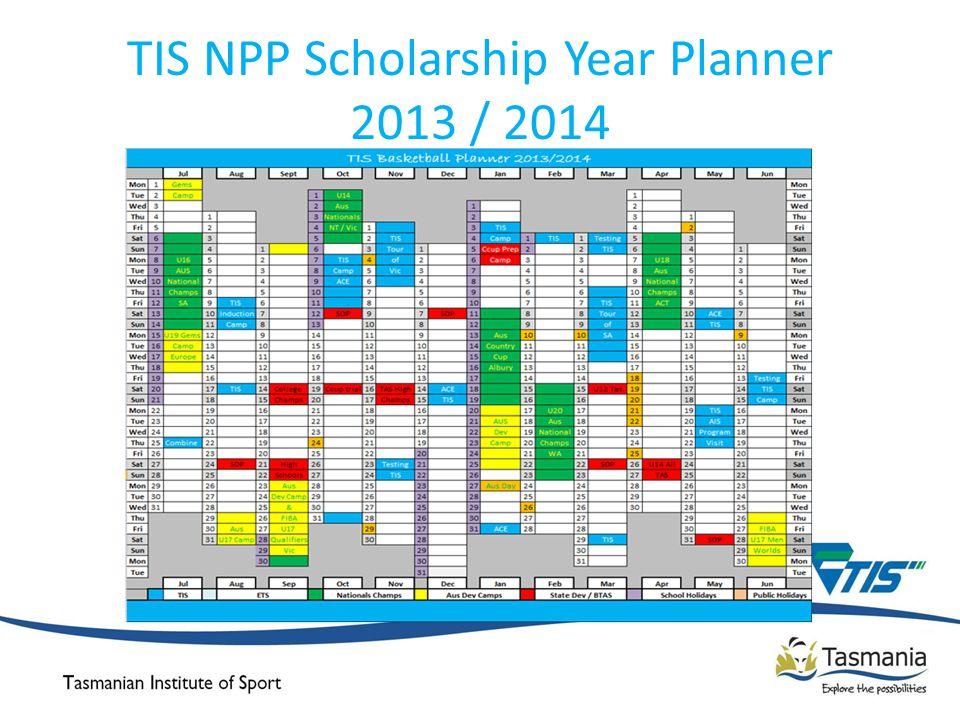 TIS NPP Scholarship Year Planner 2013 / 2014