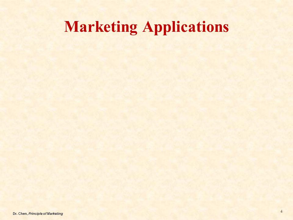 Dr.Chen, Principle of Marketing 15 3.