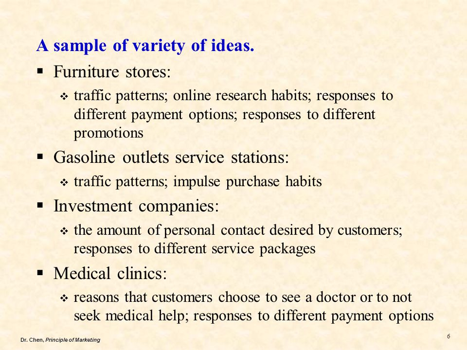 Dr. Chen, Principle of Marketing 7