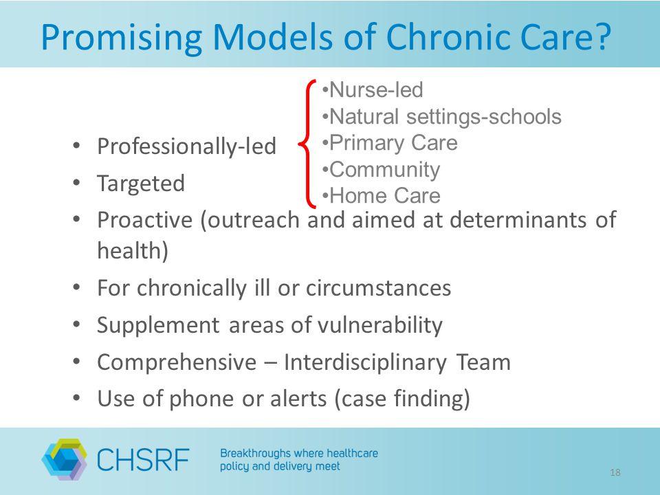 Promising Models of Chronic Care.