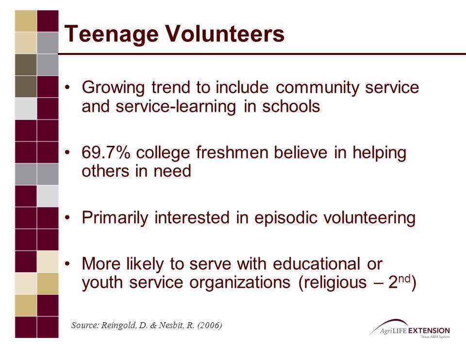 Why do volunteers quit.
