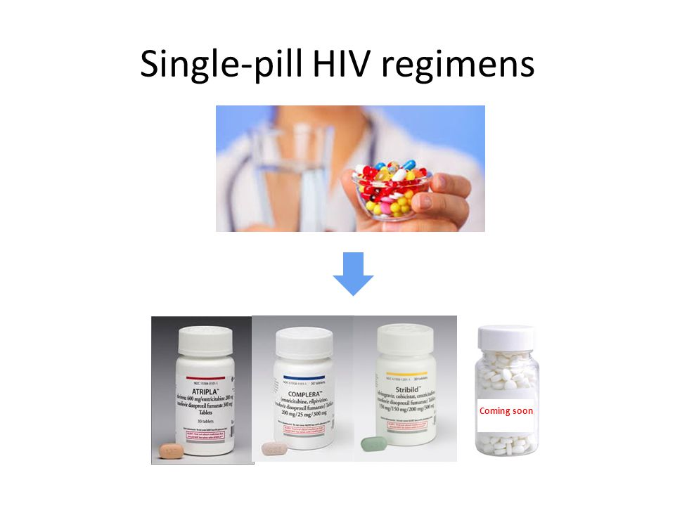 Single-pill HIV regimens Coming soon