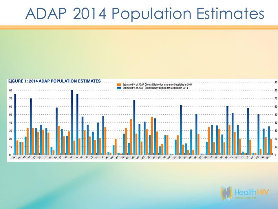 ADAP 2014 Population Estimates