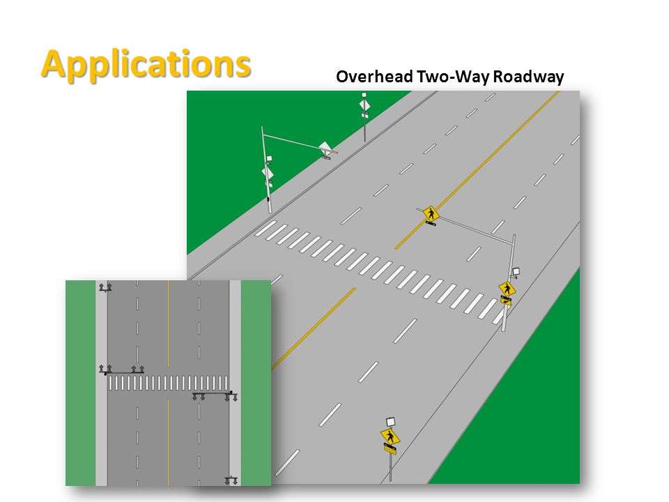 Applications Overhead Two-Way Roadway
