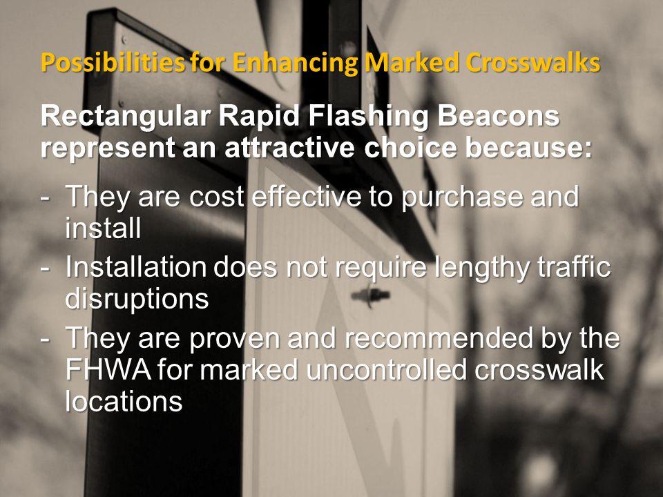 Rectangular Rapid Flashing Beacons Oregon Department of Transportation (ODOT) Crosswalk Decision Tree Matrix:
