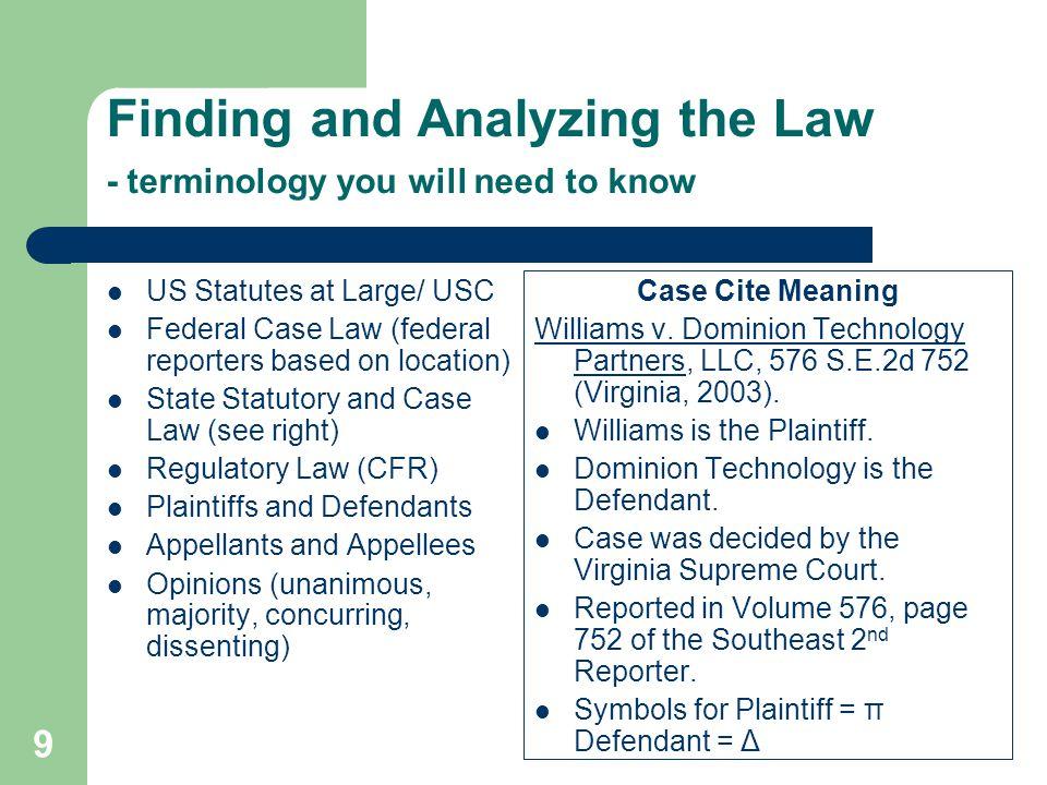 Classifications of Law Substantive vs.Procedural law Civil vs.
