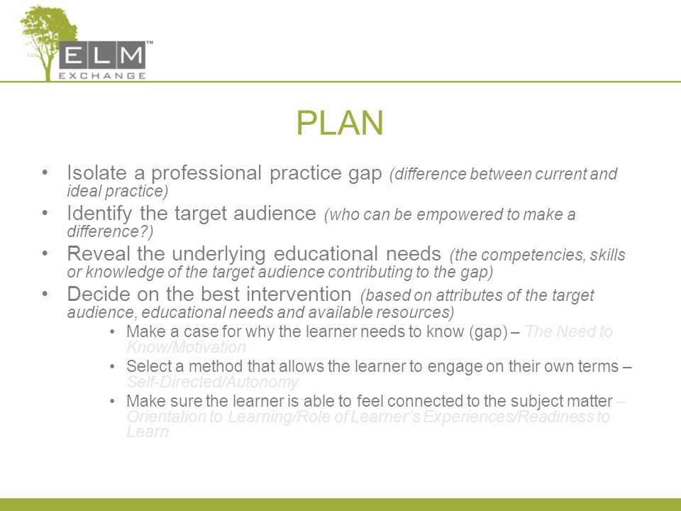 Process for Planning & Implementation Continuing Education D.L.