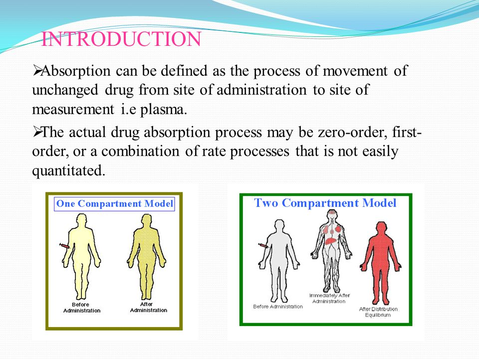 INTRODUCTION  Absorption can be defined as the process of movement of unchanged drug from site of administration to site of measurement i.e plasma.