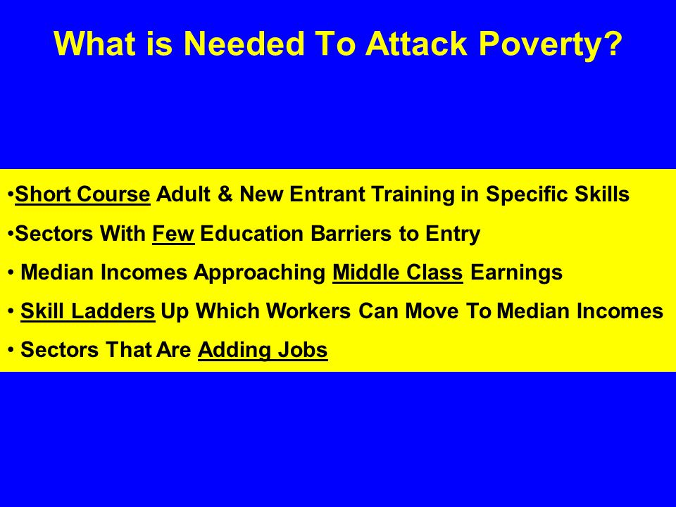 What is Needed To Attack Poverty.