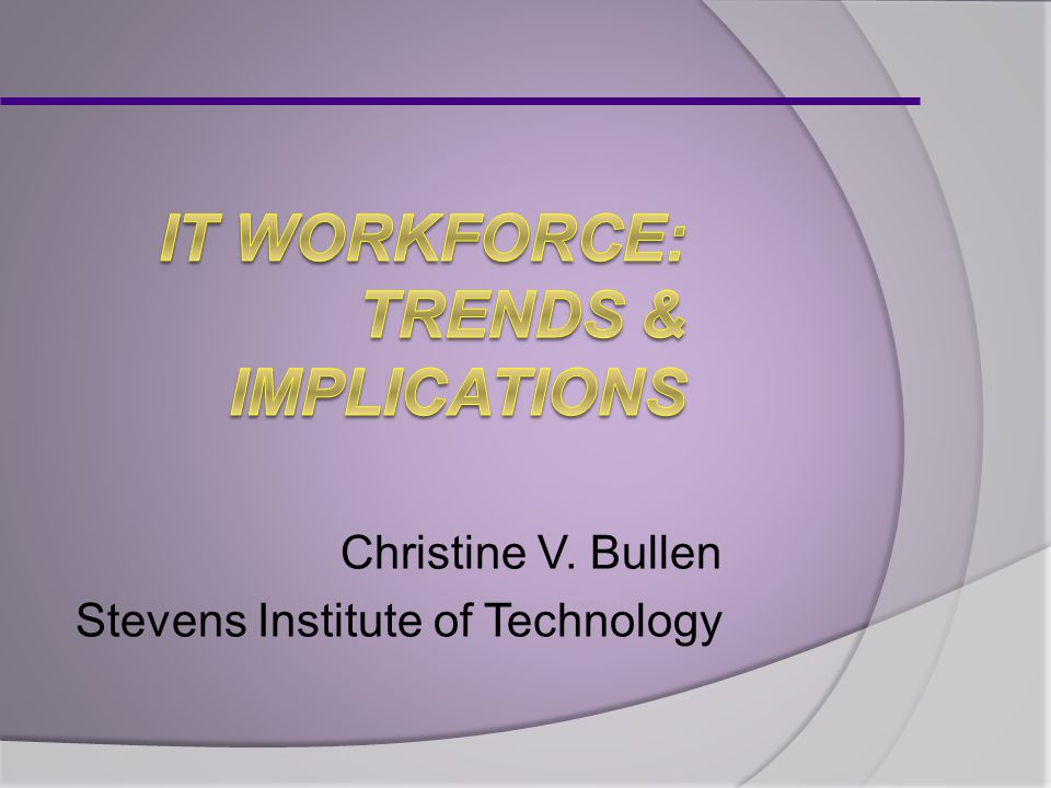 Christine V. Bullen Stevens Institute of Technology