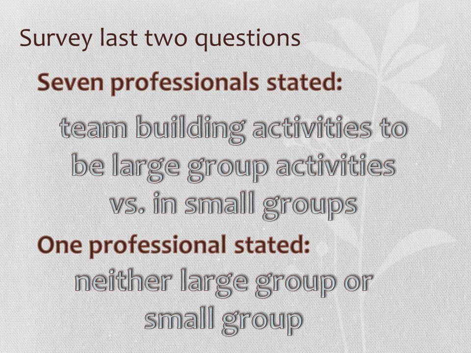 Survey last two questions