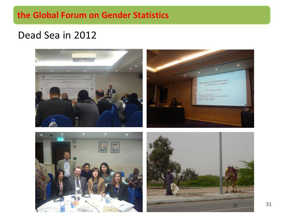 31 the Global Forum on Gender Statistics Dead Sea in 2012