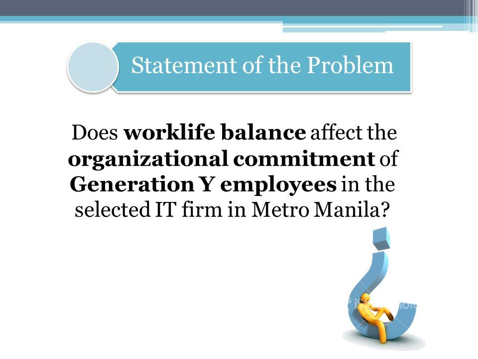 Worklife Balance- balance between work and family or life outside work (Yeandle, 2005; Millward, 2005).