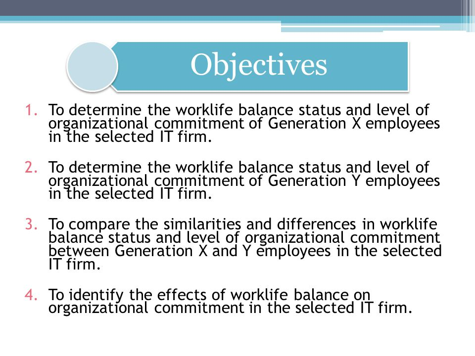 Look into the company culture as a possible variable Comparing different departments (subcultures) Compare to same or another industry/size Compare to another multinational or local company May also look into family businesses Repackage compensation schemes Recommendations