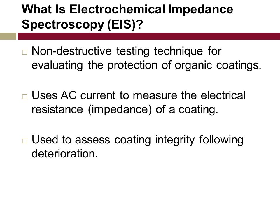 What Is Electrochemical Impedance Spectroscopy (EIS).