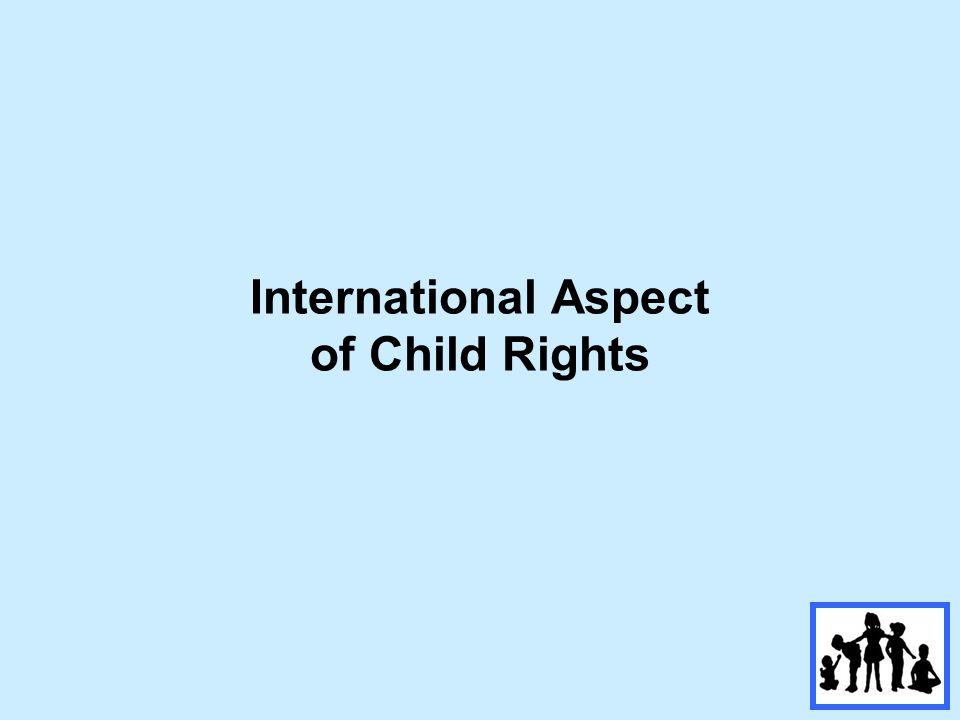 International Aspect of Child Rights