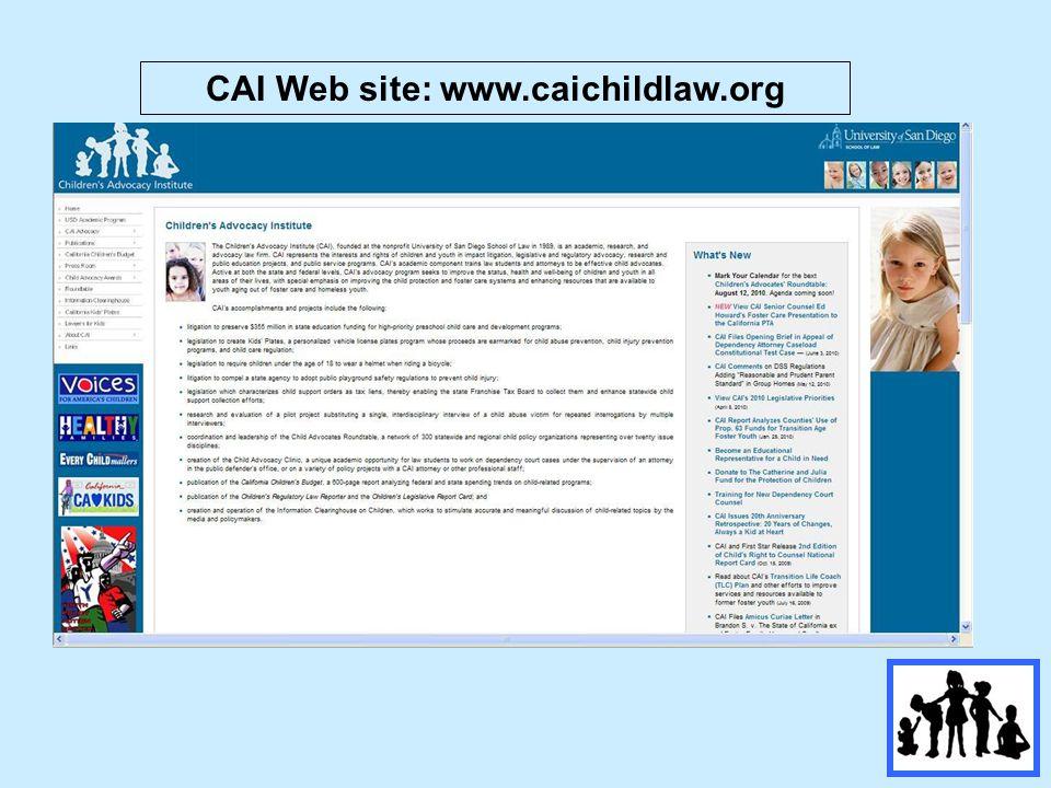 CAI Web site: www.caichildlaw.org