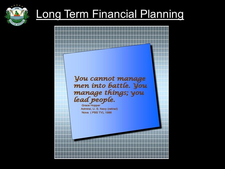 Slide 40 Long Term Financial Planning