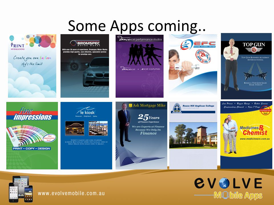 Some Apps coming..