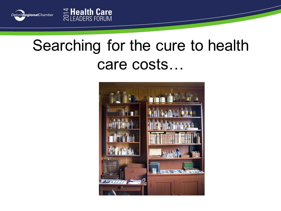 Searching for the cure to health care costs…