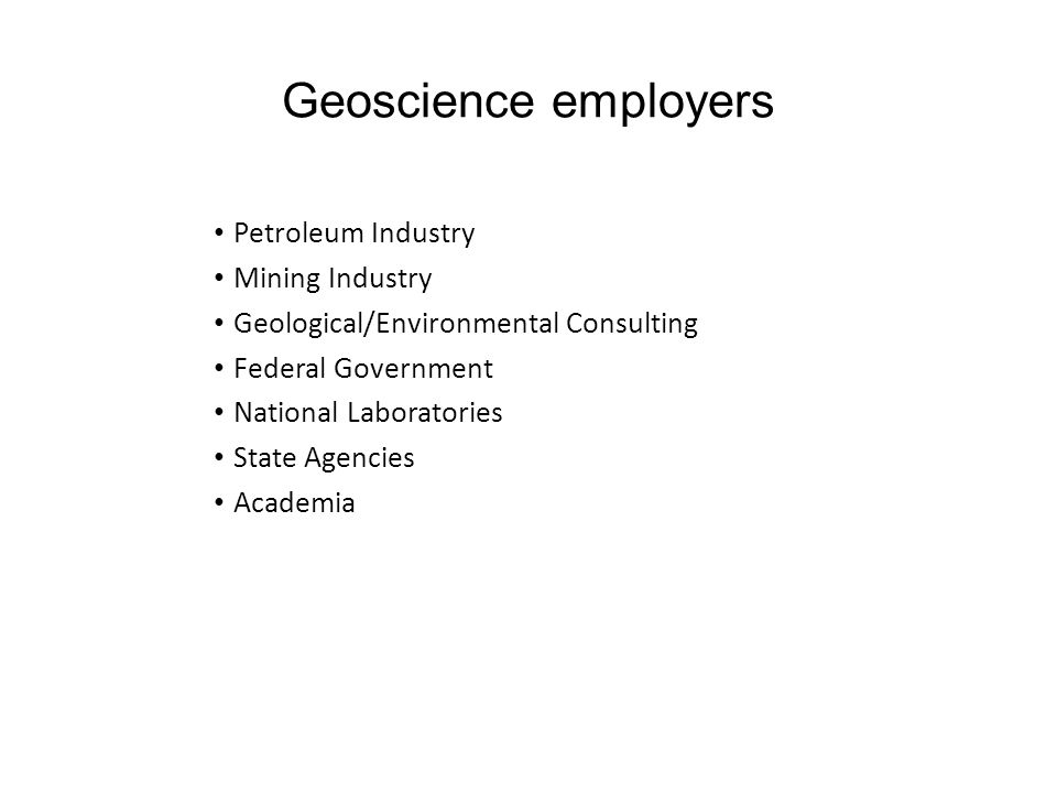 Geoscience disciplines Hydrogeology Engineering geology Geochemistry Marine geology Geophysics Petroleum geology Economic geology Paleontology Sedimen