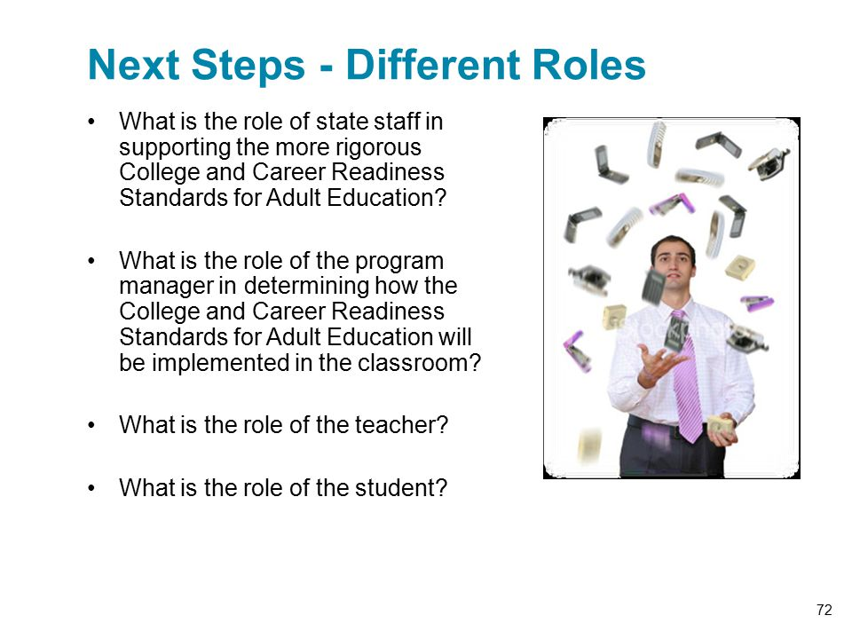 What is the role of state staff in supporting the more rigorous College and Career Readiness Standards for Adult Education.