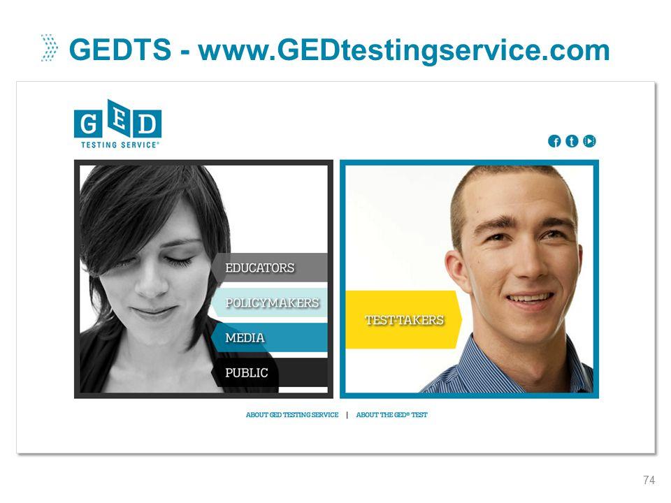 GEDTS - www.GEDtestingservice.com 74