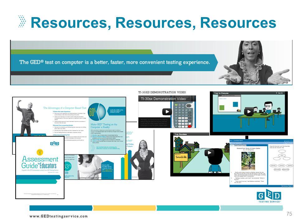 Resources, Resources, Resources 75