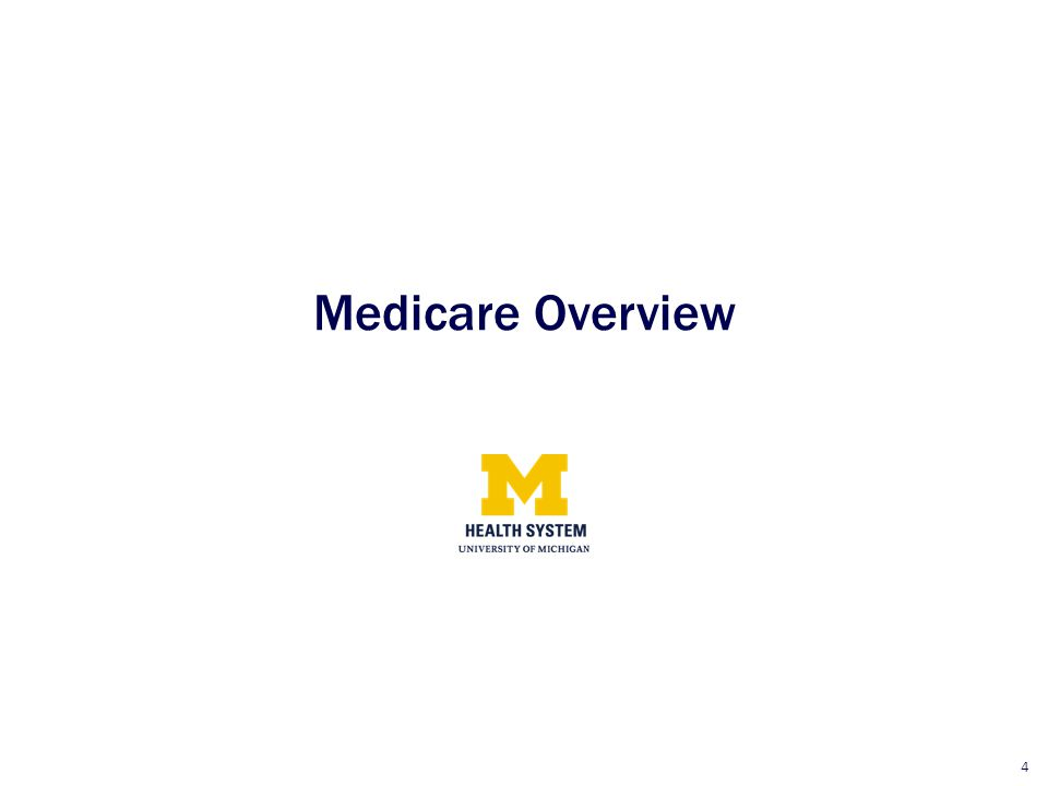 4 Medicare Overview