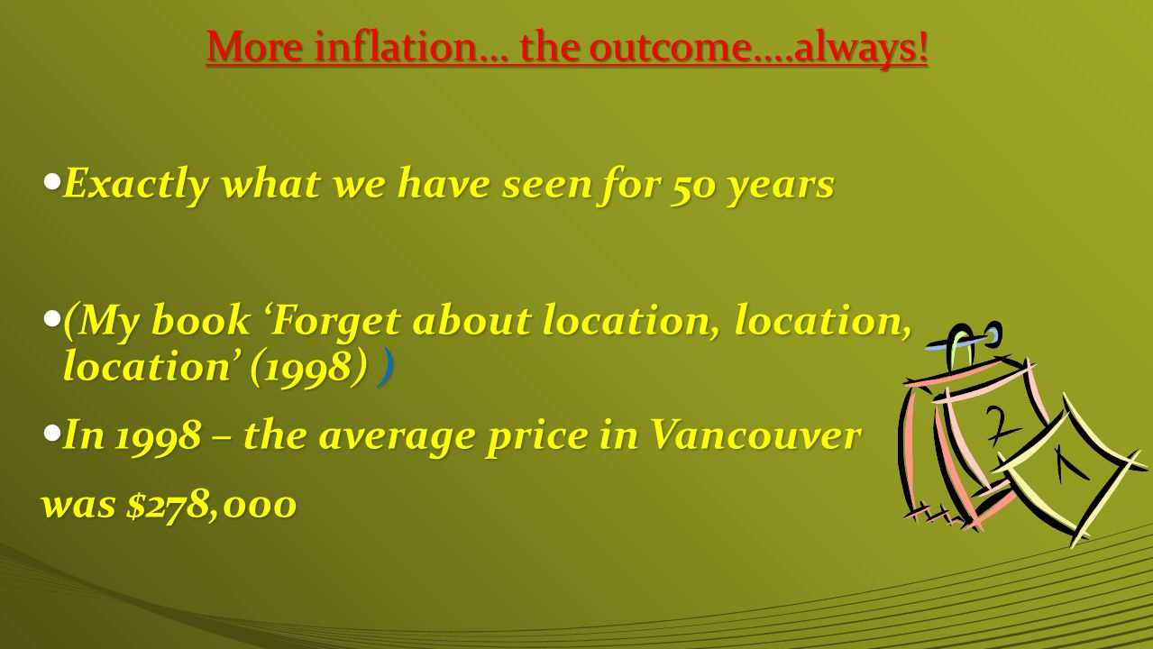 More inflation… the outcome….always.