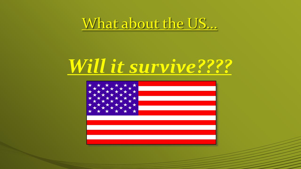 What about the US... Will it survive????