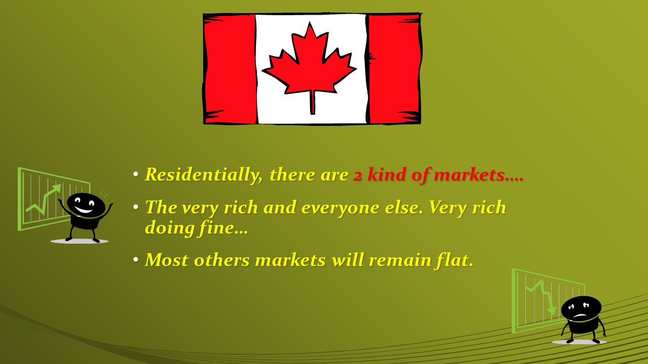 Residentially, there are 2 kind of markets…. Residentially, there are 2 kind of markets….