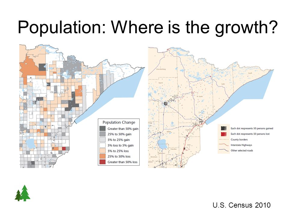 Population: Where is the growth U.S. Census 2010 Population Change 2000 - 2010