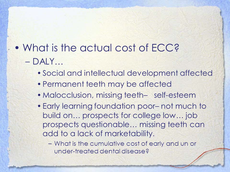 What is the actual cost of ECC.