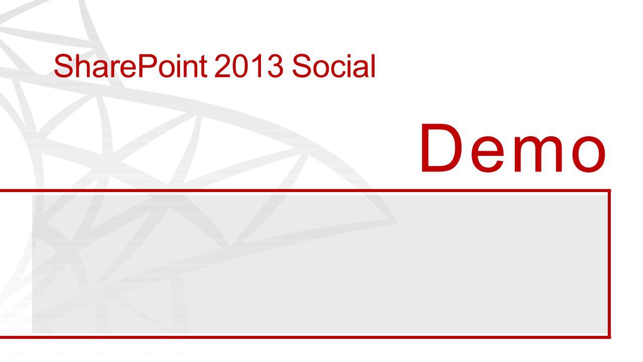 SharePoint 2013 Social Demo