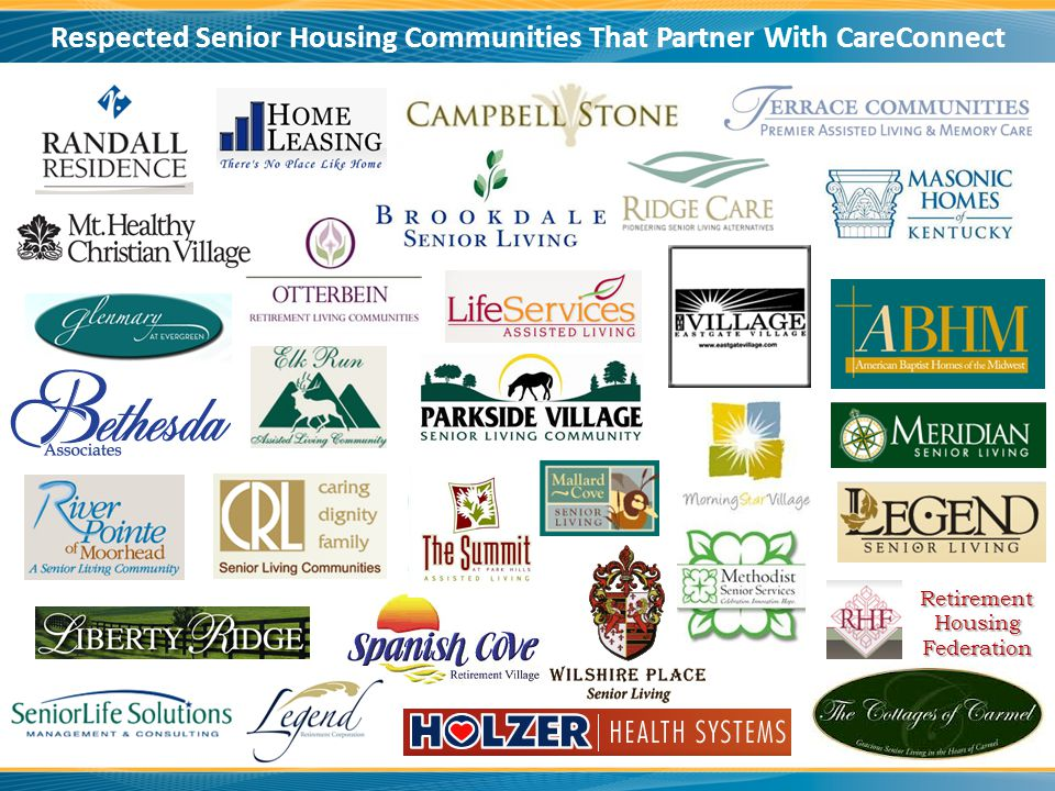 RetirementHousingFederation Respected Senior Housing Communities That Partner With CareConnect