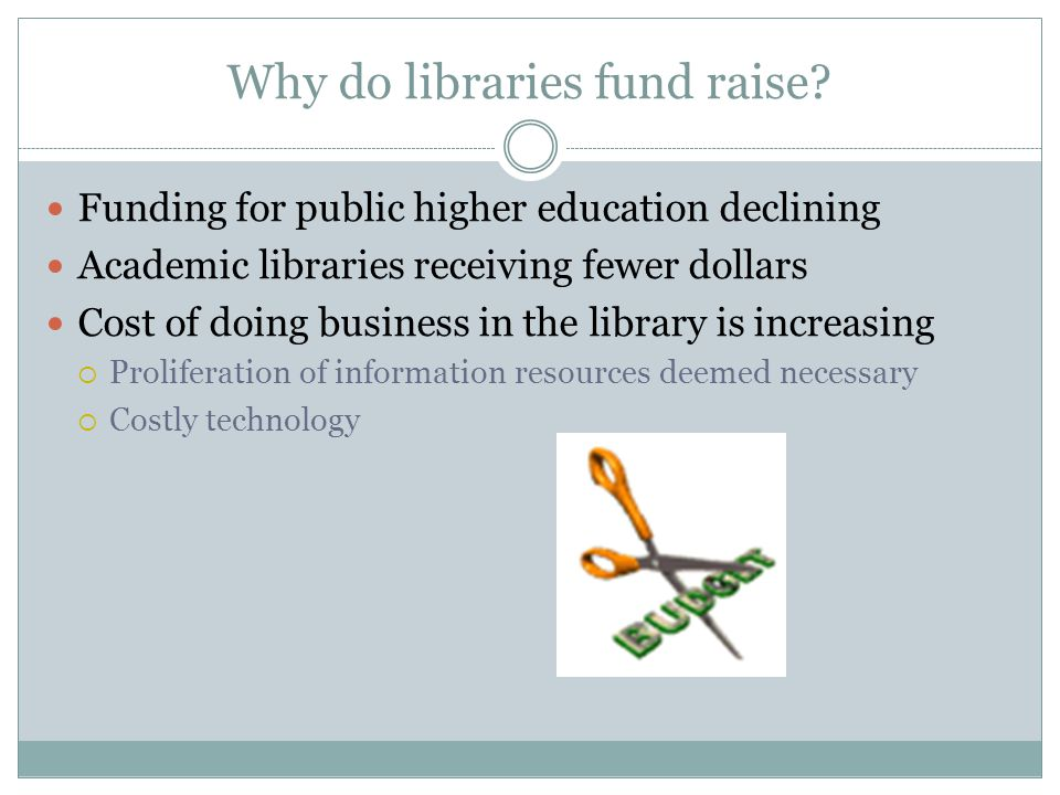 Why do libraries fund raise.