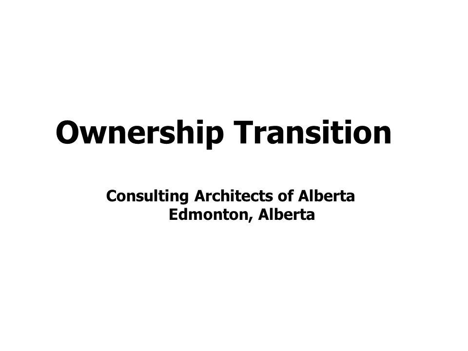 Ownership Transition Consulting Architects of Alberta Edmonton, Alberta