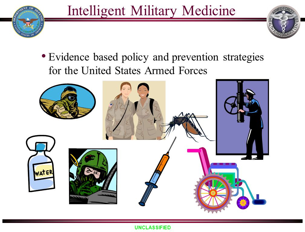 UNCLASSIFIED Intelligent Military Medicine Evidence based policy and prevention strategies for the United States Armed Forces