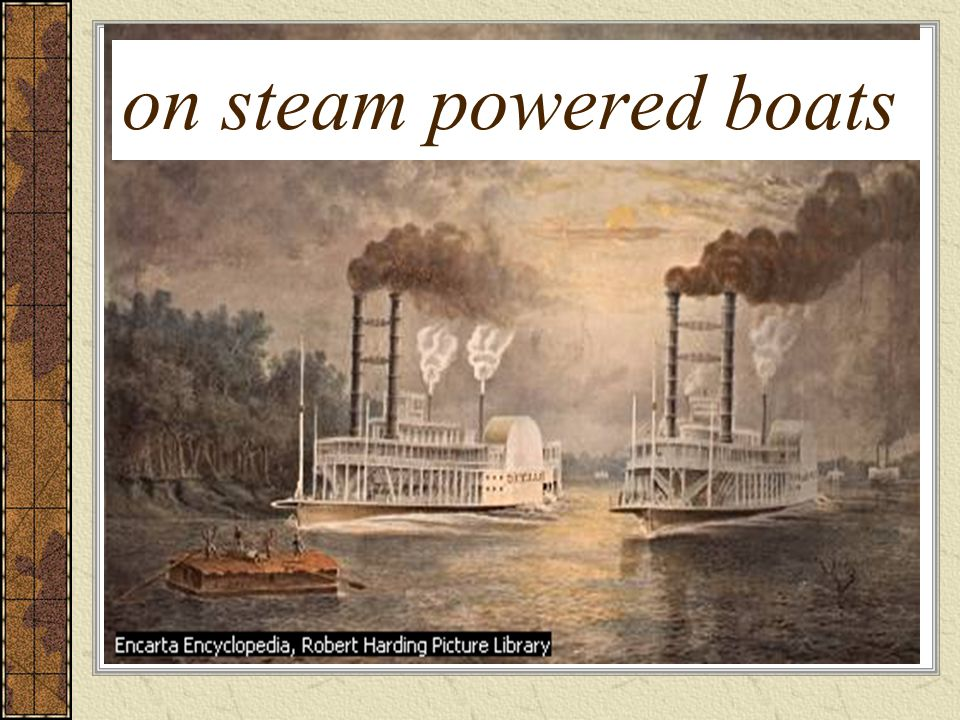 on steam powered boats