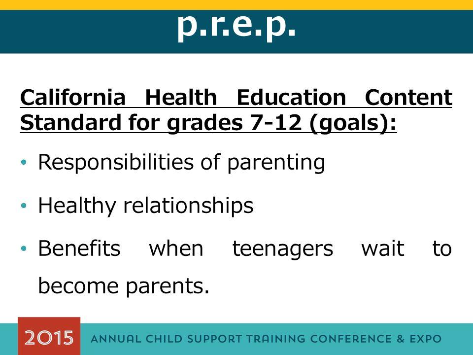 p.r.e.p. Legislative Response: California Education code 51220.5...