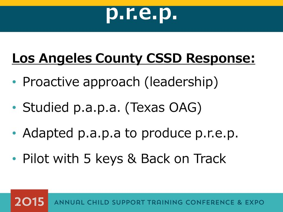 p.r.e.p. Effectiveness of p.a.p.a.: p.a.p.a. pre-test: 69% vs.