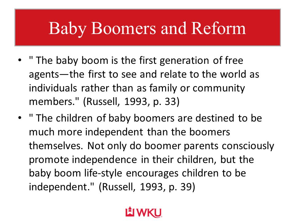 Baby Boomers and Reform