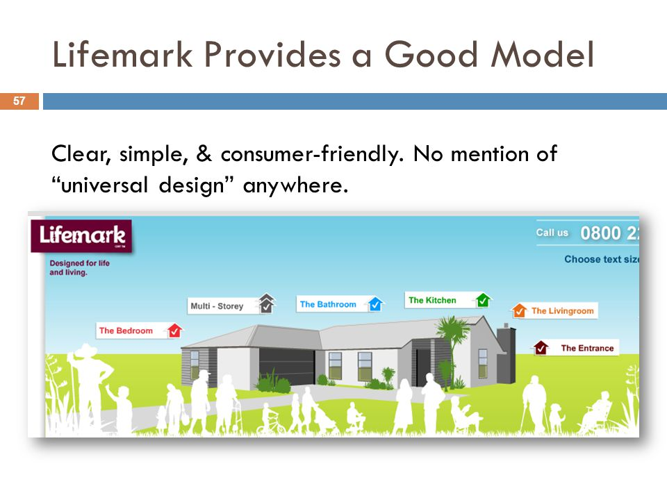 Lifemark Provides a Good Model 57 Clear, simple, & consumer-friendly.