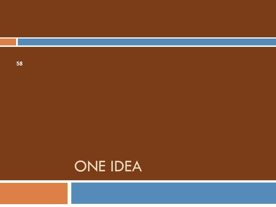 ONE IDEA 58